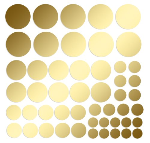 Mix - 50 Klebepunkte Dots - MATT GOLD - 1 bis 2,5cm