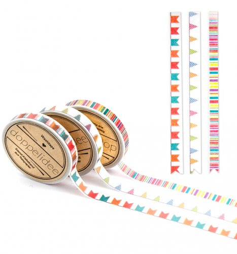 Mini Washi Tape 3er Set - Party! Wimpelkette