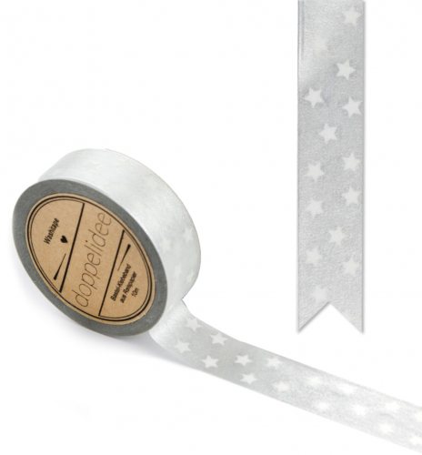Washi Tape - Silber Sterne - 10m