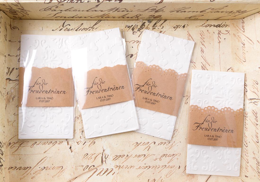 10 Taschentuch Banderolen Hochzeitsdeko Banderole Für Freudentränen