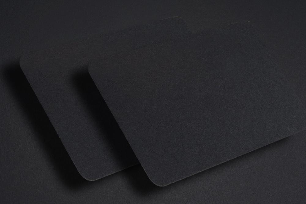 50 Mini Visitenkarten In Schwarz 74 X 44 Mm Blanko