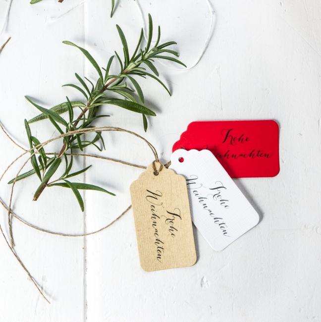 Geschenkanhänger Frohe Weihnachten.Frohe Weihnachten Geschenkanhänger Rot Xmas